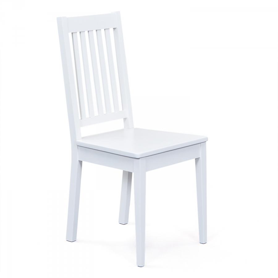 Jídelní dřevěná židle bílá