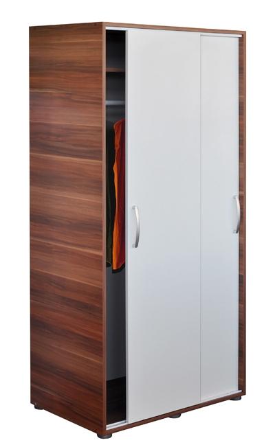 <![CDATA[šatní skříň s posuvnými dveřmi 65641 ořech / bílá Idea]]>