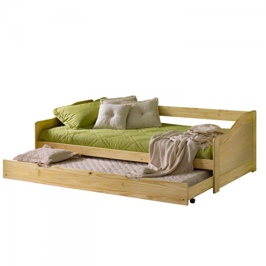 <![CDATA[Rozkládací postel 8808 borovice s roštem 90x200 Idea]]>