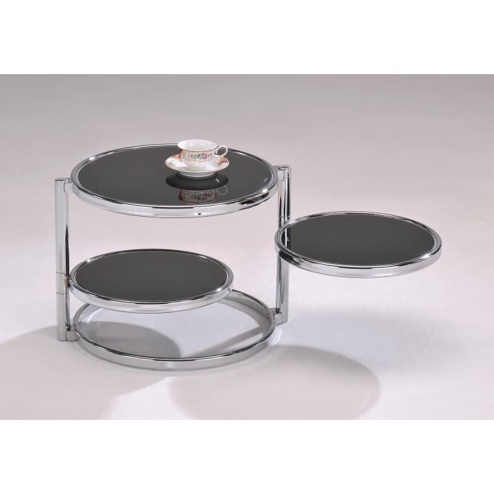 <![CDATA[Konferenční stolek, chrom černé sklo, MOIRA Tempo Kondela]]>