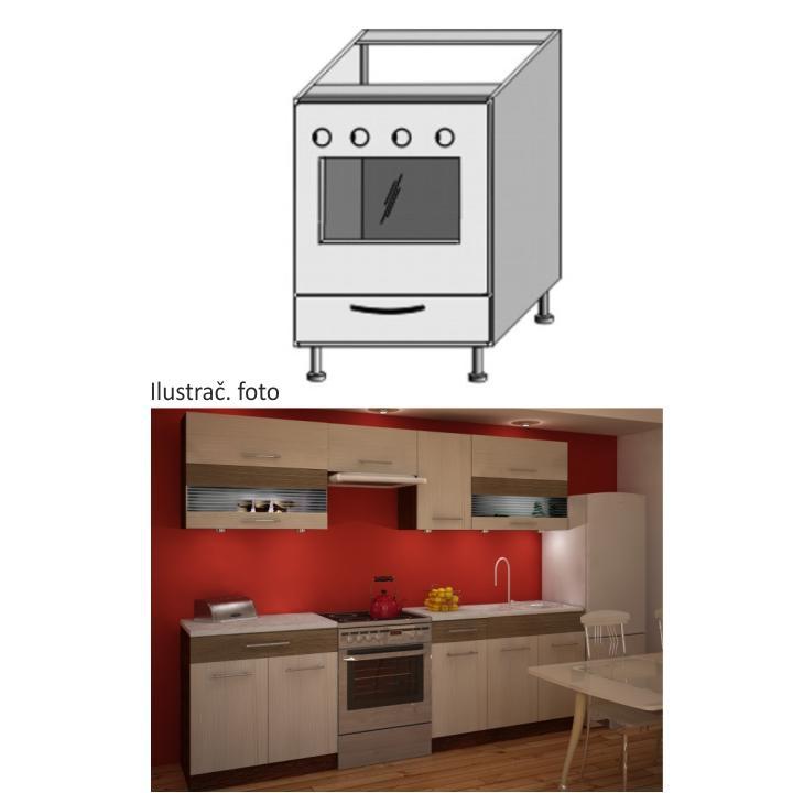 <![CDATA[Kuchyňská skříňka na vestavný sporák spodní, rigoleto light dark Tempo Kondela]]>