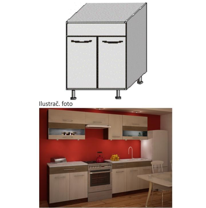 <![CDATA[Kuchyňská skříňka dřezová spodní, rigoleto light dark Tempo Kondela]]>