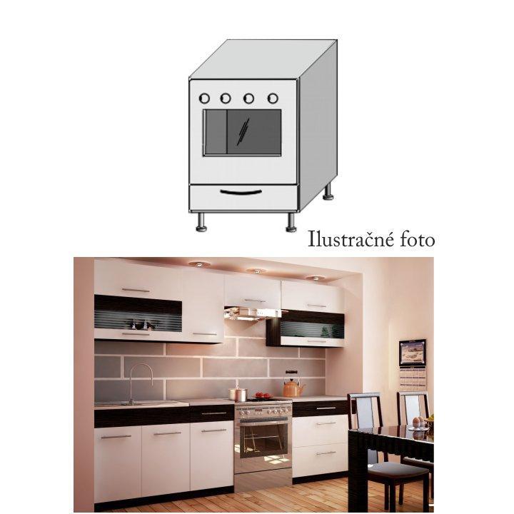<![CDATA[Skříňka, na vestavný sporák do kuchyně Jura, bílá wenge Tempo Kondela]]>