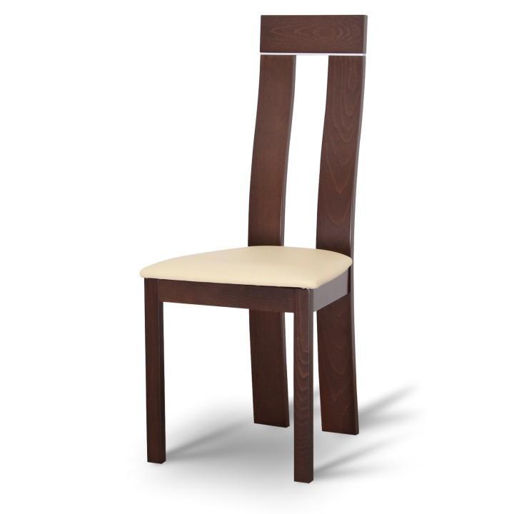 <![CDATA[Židle, dřevěná, ořech, ekokůže béžová, DESI Tempo Kondela]]>