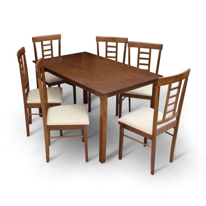<![CDATA[Jídelní set, jídelní stůl a židle ořech OLEG 1+6 Tempo Kondela]]>