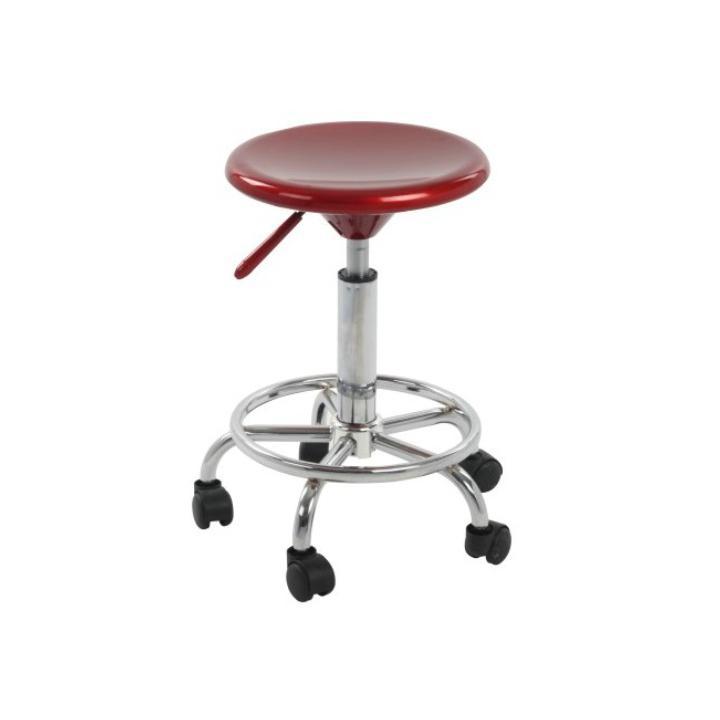 <![CDATA[Židle na kolečkách, červený plast, chrom, MABEL NEW Tempo Kondela]]>