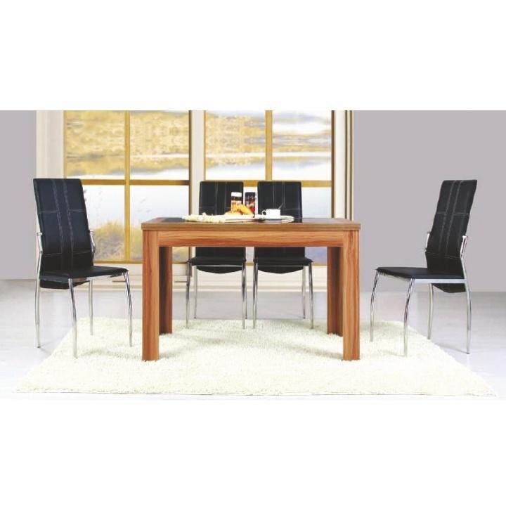 <![CDATA[Jídelní set, jídelní stůl a židle ořech, černá, IDEAL 1+4 Tempo Kondela]]>