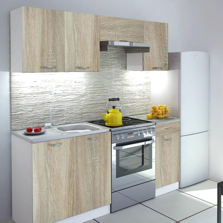 <![CDATA[Kuchyňská linka, kuchyně VERKA ZS 180 cm dub sonoma, bílá Tempo Kondela]]>