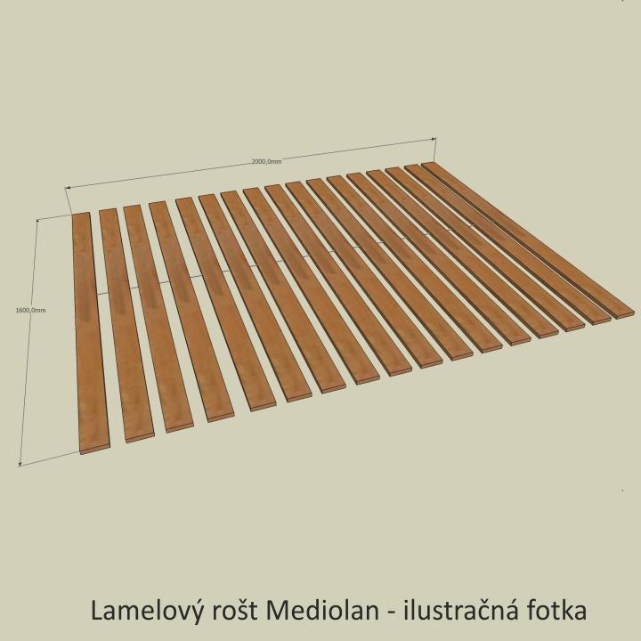 <![CDATA[Lamelový rošt Mediolan, 160x200 cm Tempo Kondela]]>