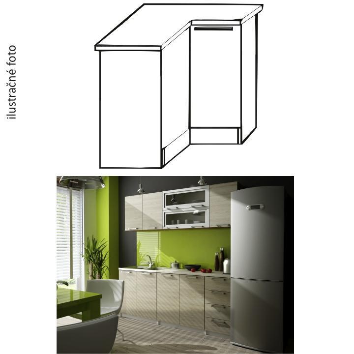 <![CDATA[Kuchyňská skříňka rohová spodní, levá, dub sonoma, IRYS DN-80 Tempo Kondela]]>