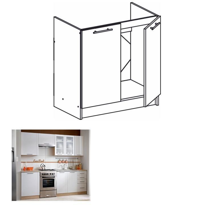 <![CDATA[Skříňka, kuchyňská spodní dřezová, dub sonoma, bílá, MONDA S80ZL Tempo Kondela]]>