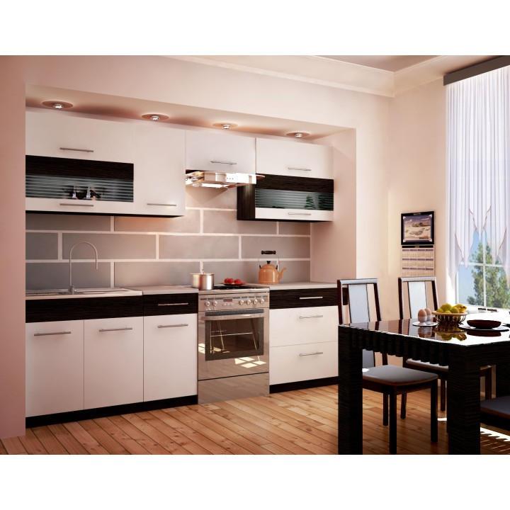 <![CDATA[Kuchyně, kuchyňská linka bílá wenge JURA NEW B ZS 260 cm Tempo Kondela]]>