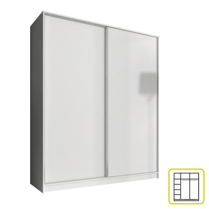 <![CDATA[Skříň, kombinovaná dvoudveřová šatní s posuvnými dveřmi, 160cm, bílá Tempo Kondela]]>