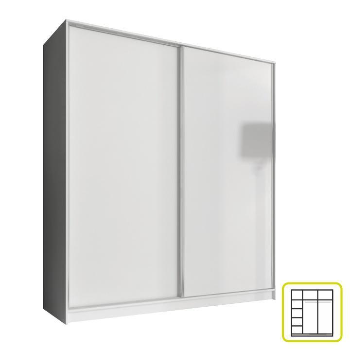 <![CDATA[Skříň, kombinovaná dvoudveřová šatní, s posuvnými dveřmi, 180cm Tempo Kondela]]>