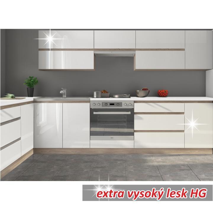 <![CDATA[Skříňka, dolní do kuchyně, bílý vysoký lesk HG, LINE WHITE D60KU Tempo Kondela]]>