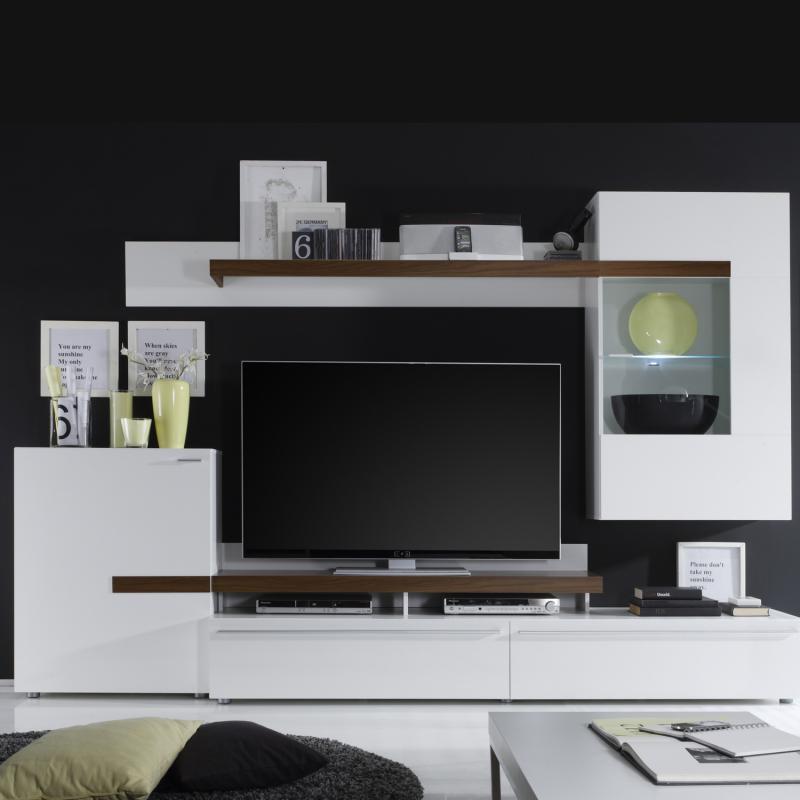 <![CDATA[Obývací stěna PIANO P295765 bílá,ořech Idea]]>