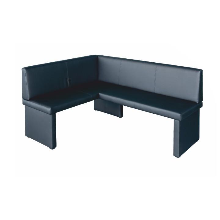 <![CDATA[Rohová jídelní lavice, levé provedení, ekokůže černá, MODERN Tempo Kondela]]>