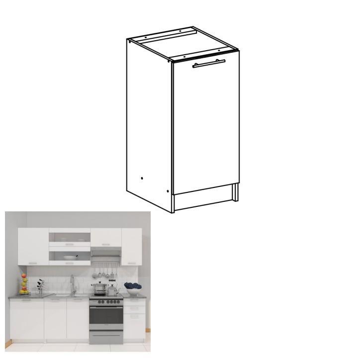 <![CDATA[Skříňka, dolní do kuchyně, bílá, FABIANA S - 40 Tempo Kondela]]>