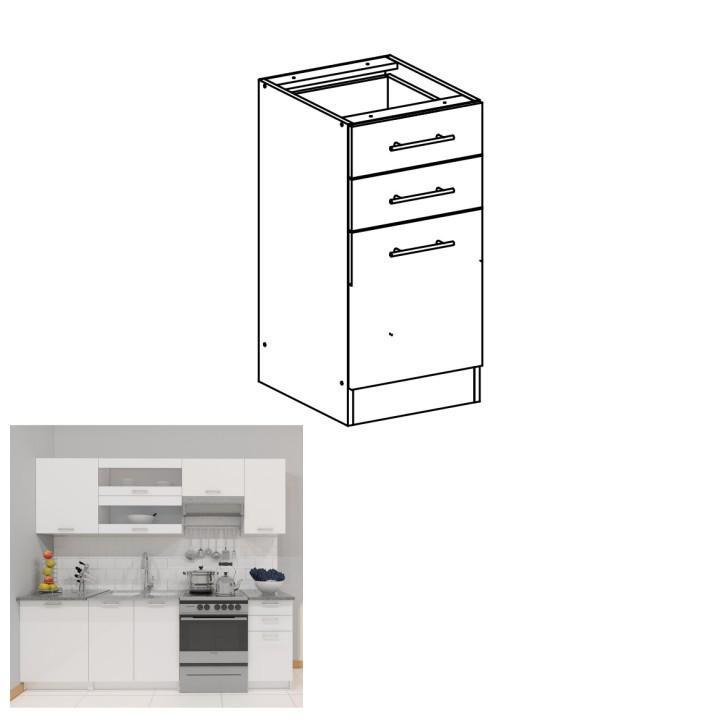 <![CDATA[Skříňka, dolní do kuchyně, bílá, FABIANA S - 40SZ2 Tempo Kondela]]>