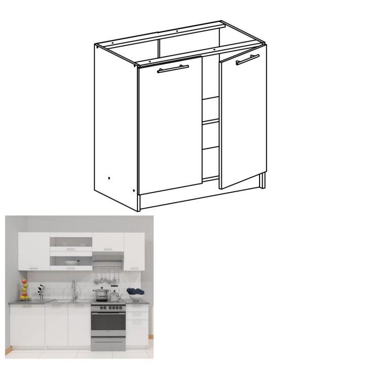 <![CDATA[Skříňka, dolní do kuchyně, bílá, FABIANA S - 80 Tempo Kondela]]>