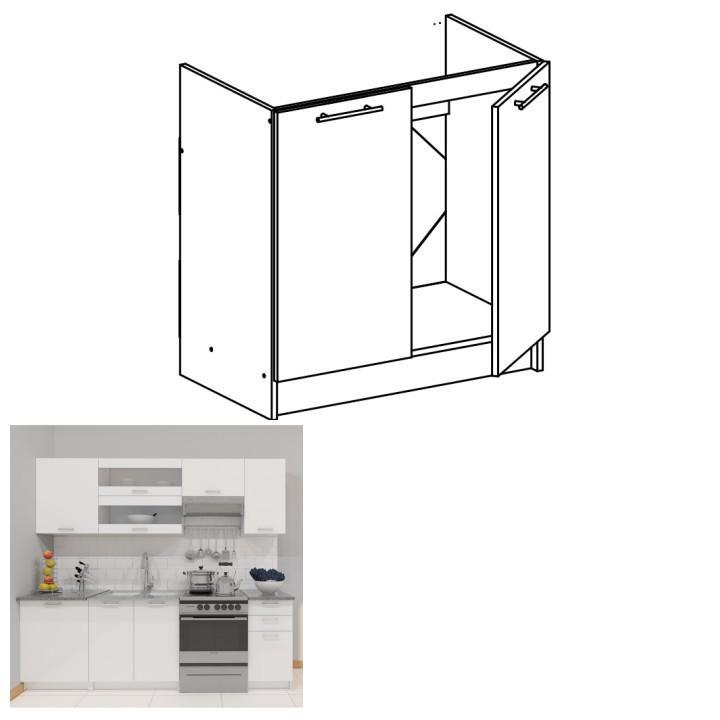 <![CDATA[Skříňka, dolní do kuchyně, bílá, FABIANA S - 80ZL Tempo Kondela]]>