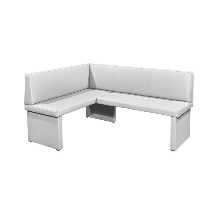 <![CDATA[Rohová jídelní lavice, bílá, levá, Alessia Pampas Sahara, M9009 Tempo Kondela]]>