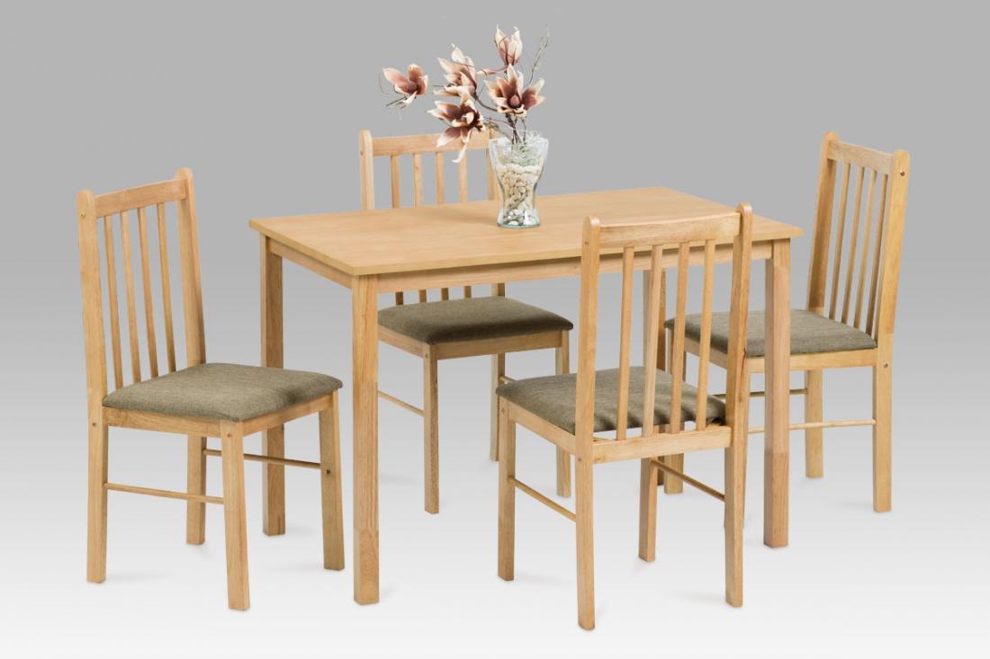 <![CDATA[Jídelní set 1+4, jídelní stůl a židle RHINO NAT přírodní Autronic]]>
