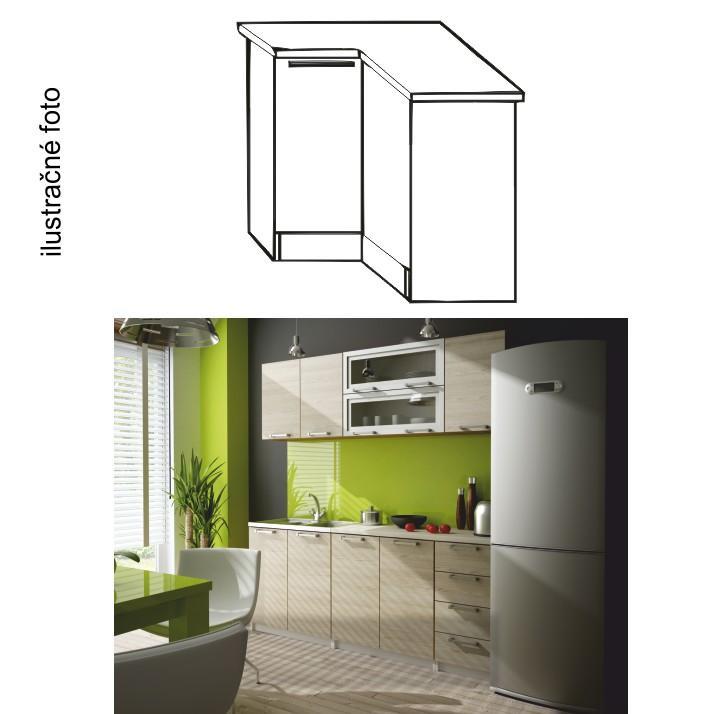 <![CDATA[Kuchyňská skříňka rohová spodní, pravá, dub sonoma, IRYS DN-80 Tempo Kondela]]>