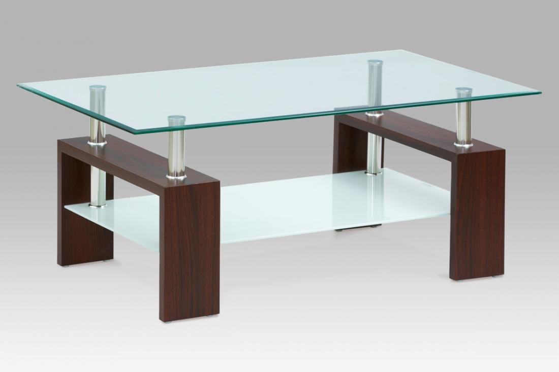 <![CDATA[Konferenční stolek skleněný AF-2024 WAL ořech Autronic]]>