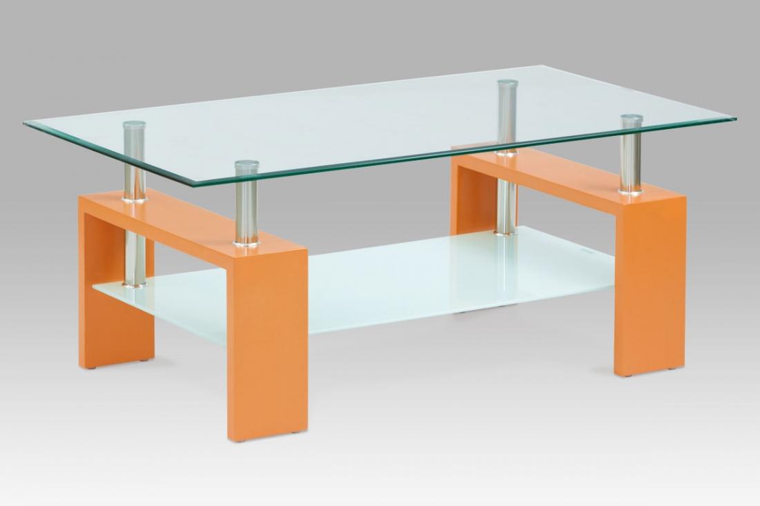 <![CDATA[Konferenční stolek skleněný AF-2024 ORA oranžová Autronic]]>