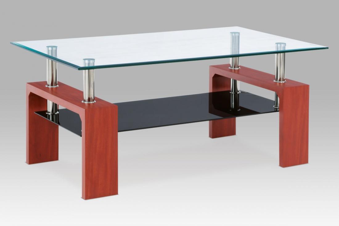 <![CDATA[Konferenční stolek skleněný AF-1022 TR2 třešeň Autronic]]>