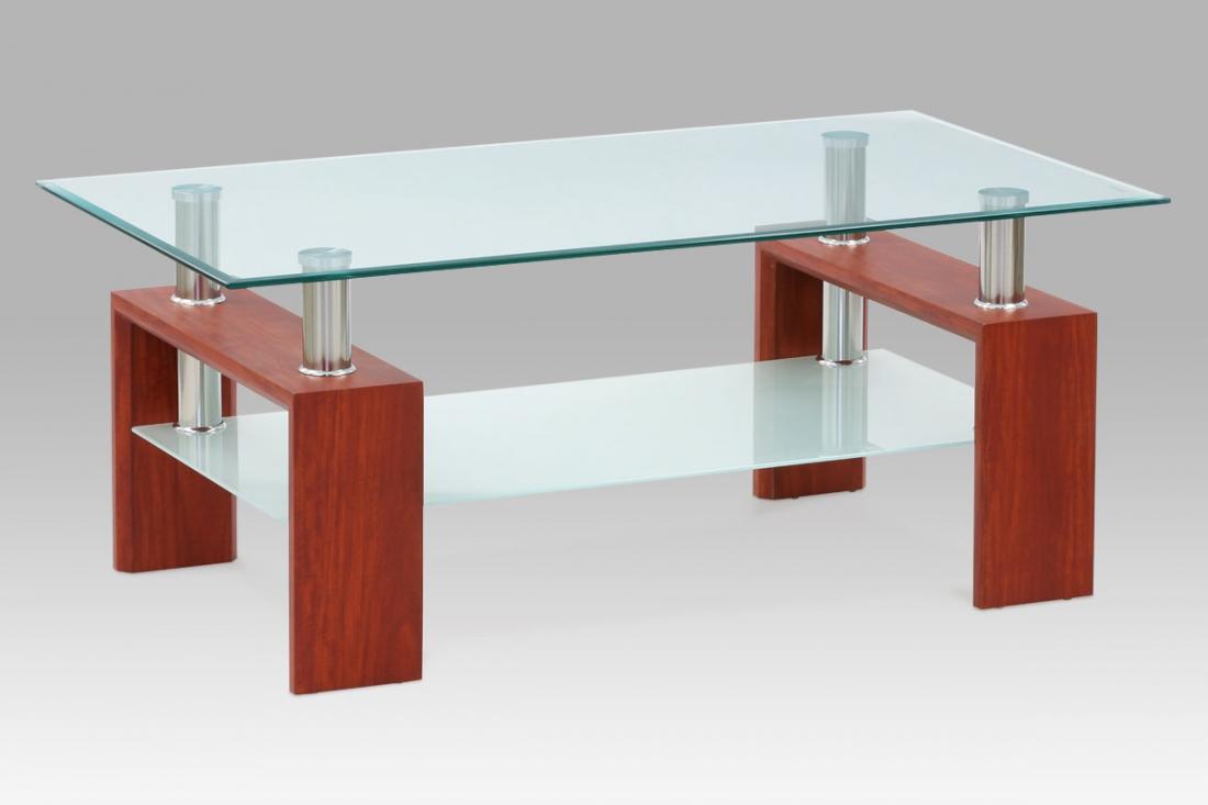 <![CDATA[Konferenční stolek skleněný AF-1024 TR2 třešeň Autronic]]>