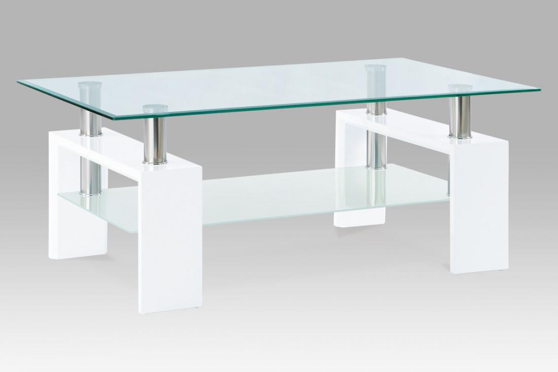 <![CDATA[Konferenční stolek skleněný AF-1024 WT bílá Autronic]]>