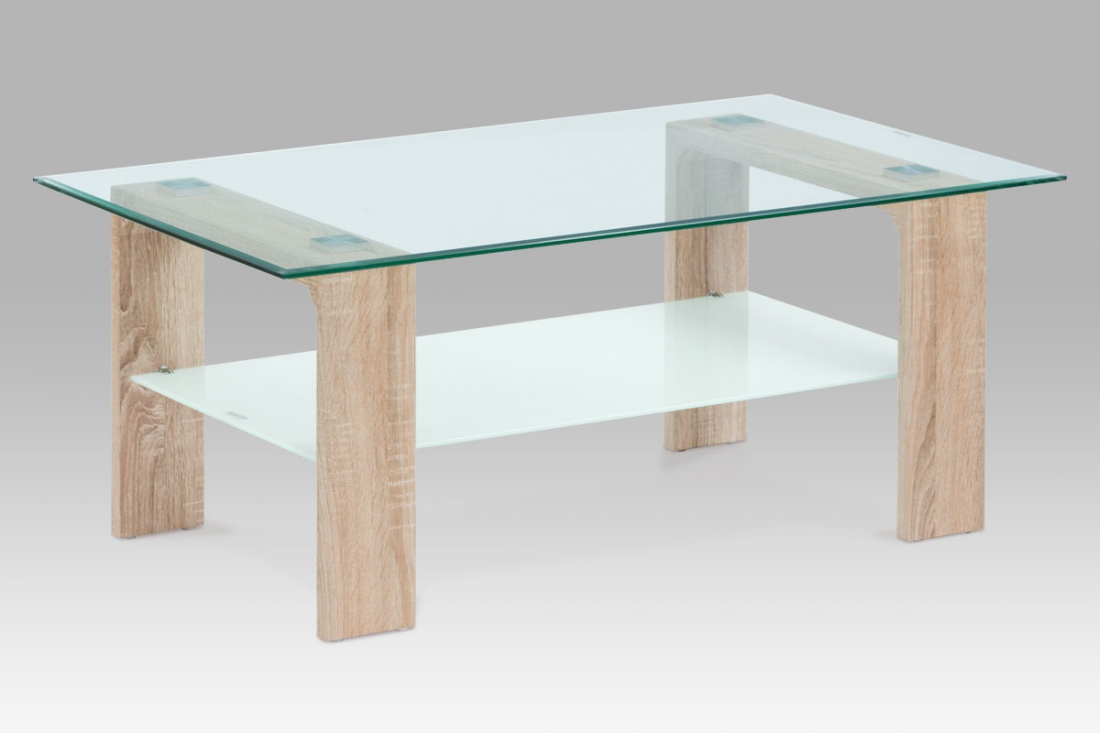 <![CDATA[Konferenční stolek skleněný AF-2037 SON dub sonoma Autronic]]>