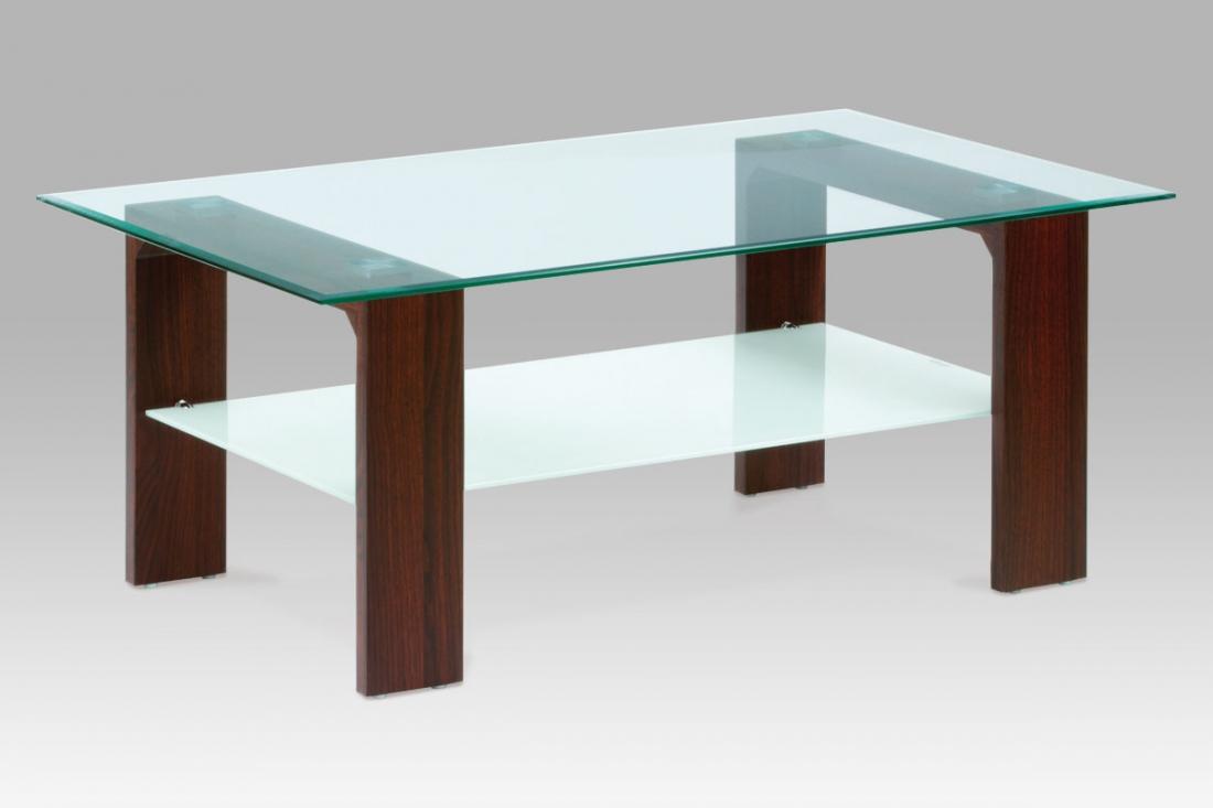 <![CDATA[Konferenční stolek skleněný AF-2037 WAL ořech Autronic]]>