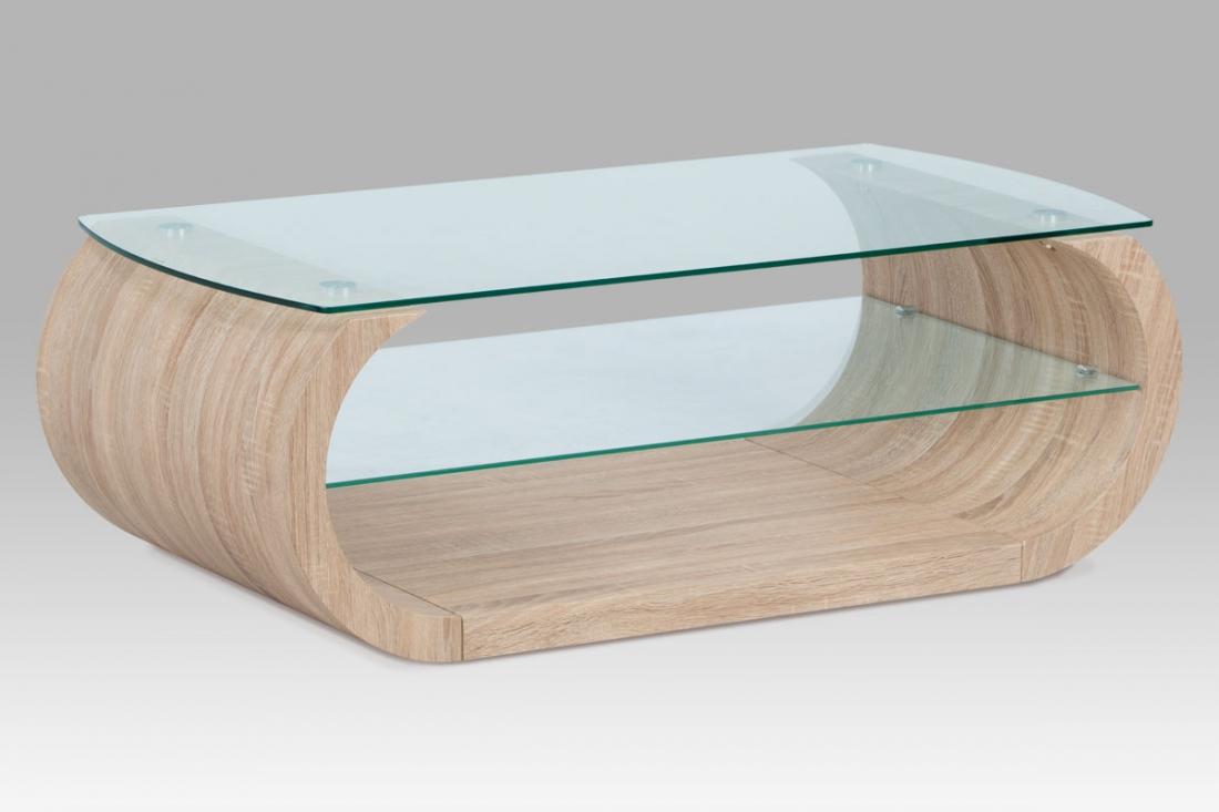 <![CDATA[Konferenční stolek skleněný AHG-194 SON dub sonoma Autronic]]>