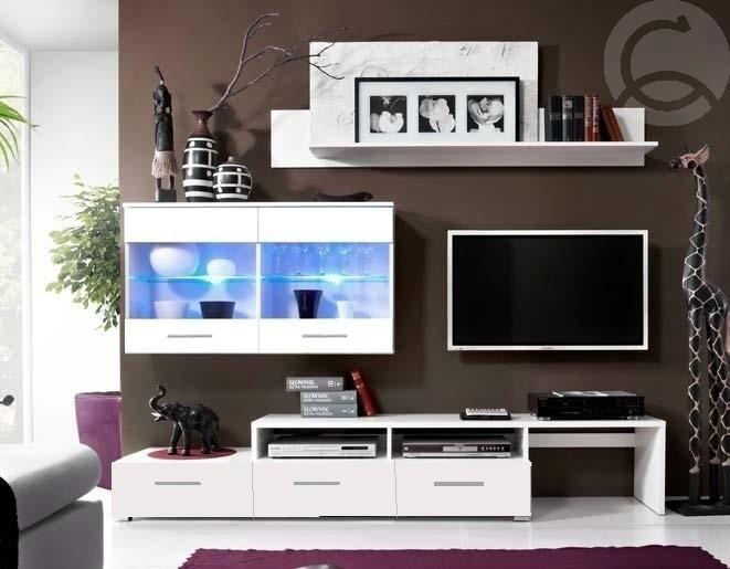 <![CDATA[Obývací stěna Bali bílá - bílý lesk CASARREDO]]>