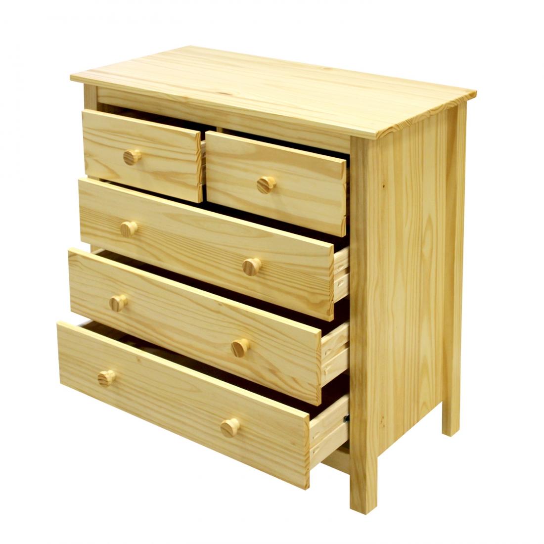 <![CDATA[Komoda ( prádelník ) z masivu borovice Torino 8091 lakovaná Idea]]>