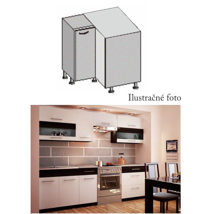 <![CDATA[Spodní rohová skříňka do kuchyně, bílá wenge, JURA NEW B DN-88*88 Tempo Kondela]]>