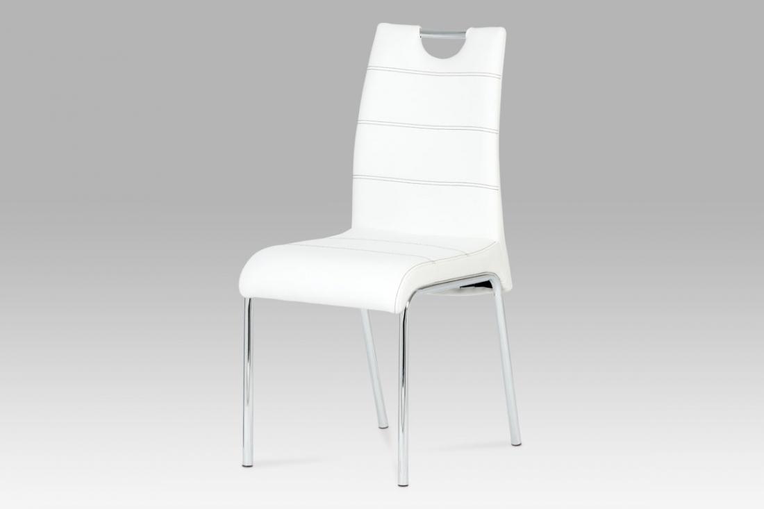 <![CDATA[Jídelní židle, bílá / chrom, AC-1122 WT Autronic]]>