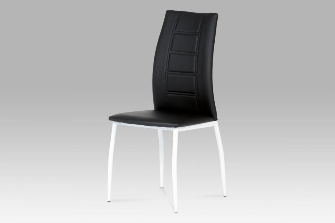 <![CDATA[Jídelní židle černá / bílá, AC-1195 BK Autronic]]>