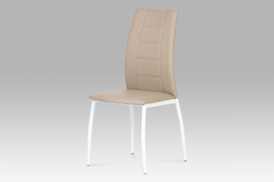 <![CDATA[Jídelní židle cappuccino / bílá, AC-1195 CAP Autronic]]>