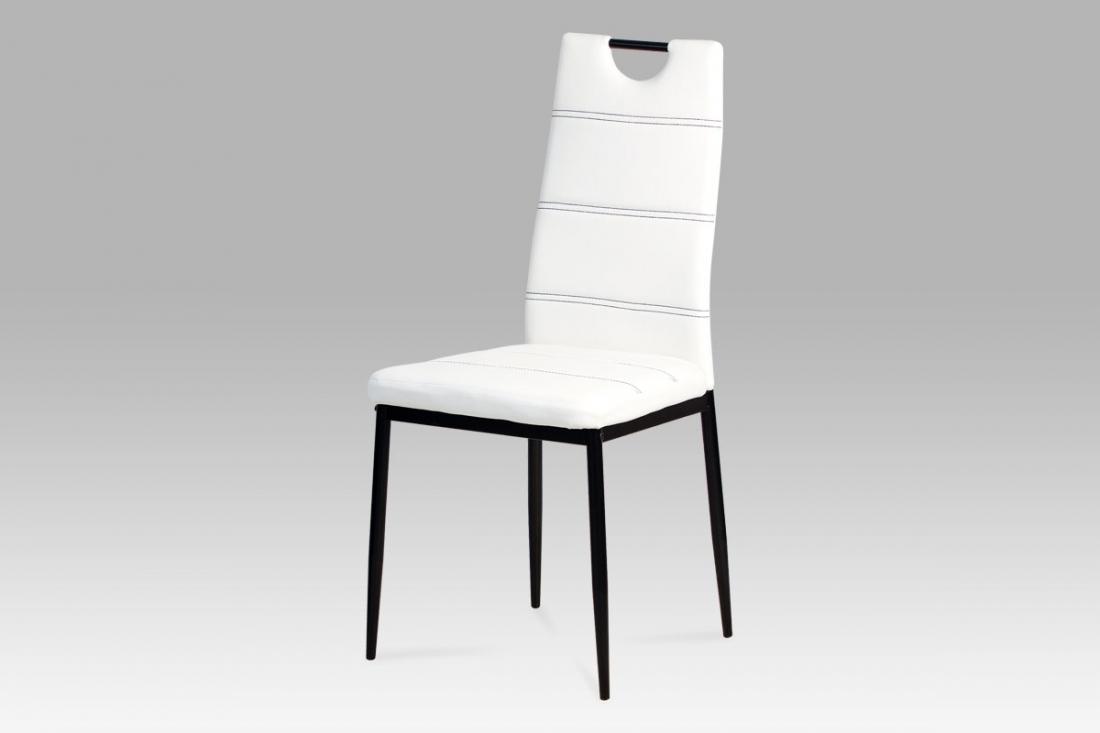 <![CDATA[Jídelní židle bílá / černá, AC-1220 WT Autronic]]>