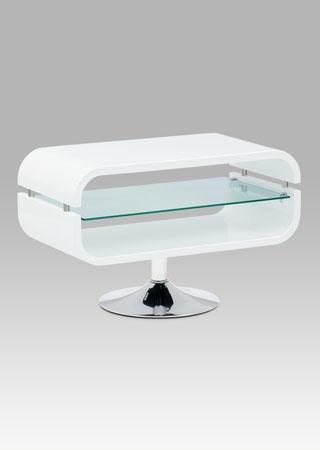 <![CDATA[TV / konferenční stolek vysoký lesk bílý / chrom / sklo Autronic]]>