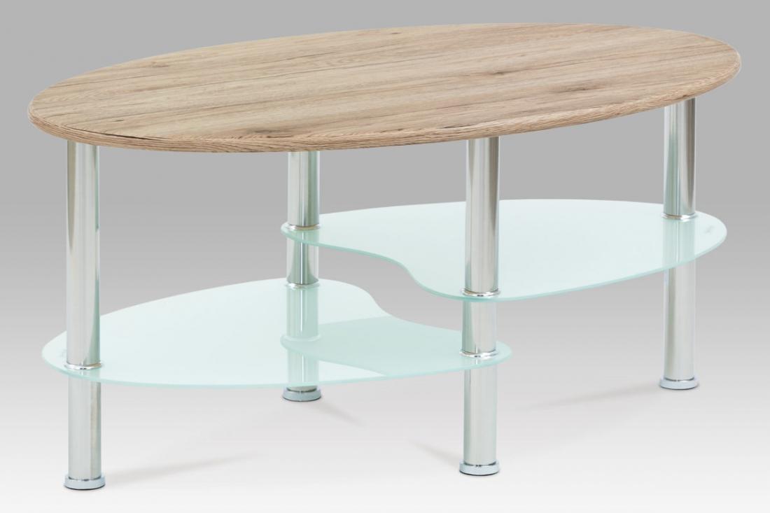 <![CDATA[Konferenční stolek san remo / bílé sklo / nerez, CT-1180 SRE Autronic]]>