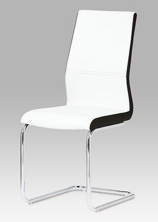 <![CDATA[Jídelní židle, koženka bílá / chrom Autronic]]>
