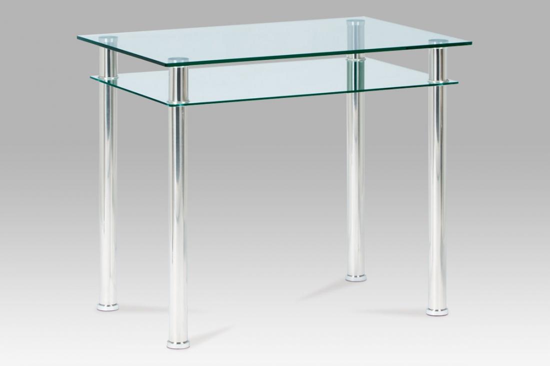 <![CDATA[Jídelní stůl skleněný / leštěný nerez, GDT-611 CLR Autronic]]>