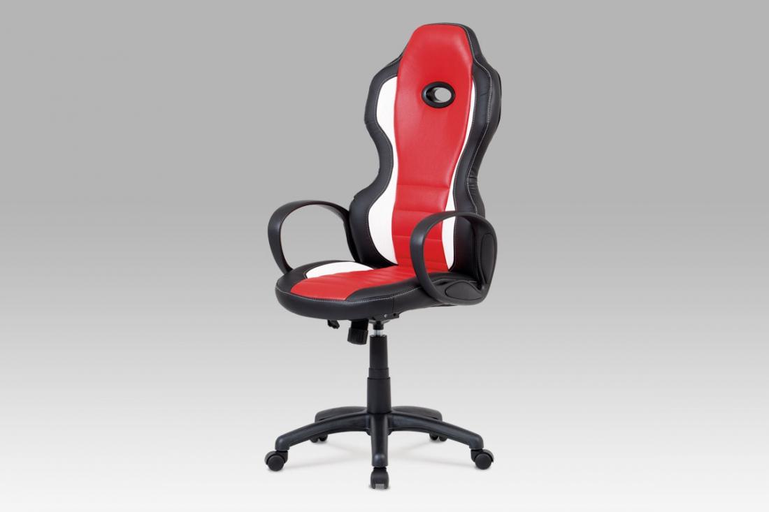 <![CDATA[Kancelářská židle černá / červená, KA-E910 RED Autronic]]>