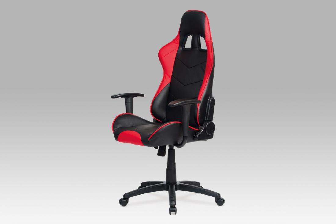 <![CDATA[Kancelářská židle černá / červená, KA-N178 RED Autronic]]>