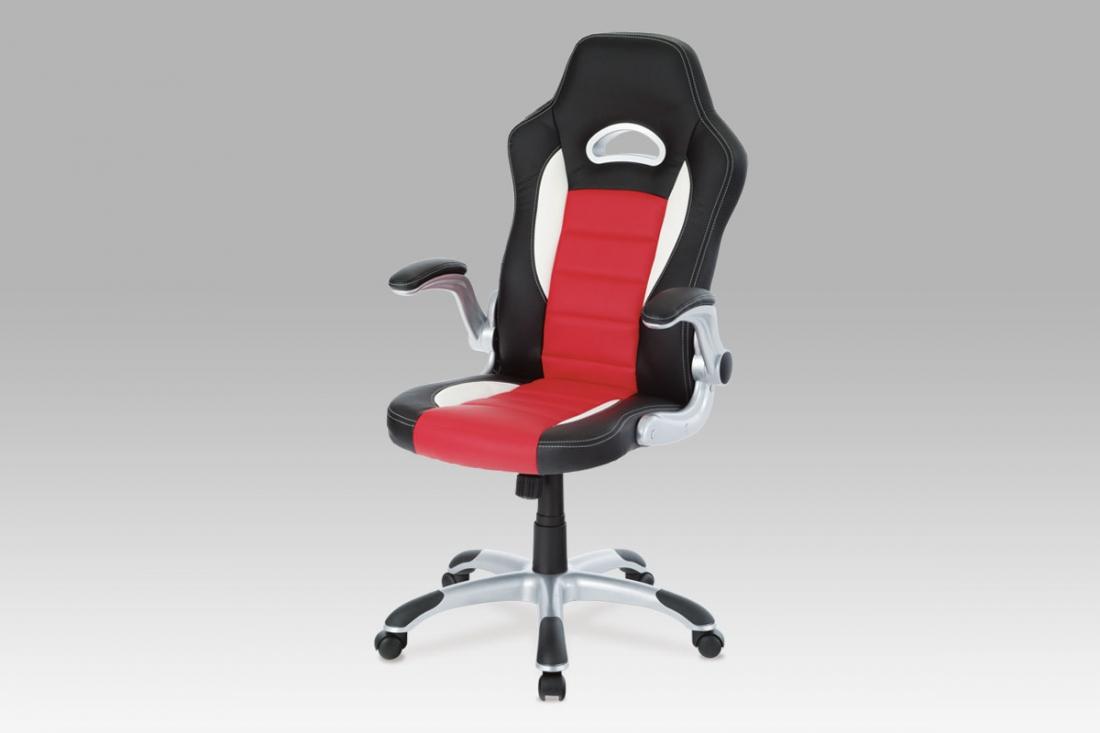 <![CDATA[Kancelářská židle černá / červená, KA-N240 RED Autronic]]>